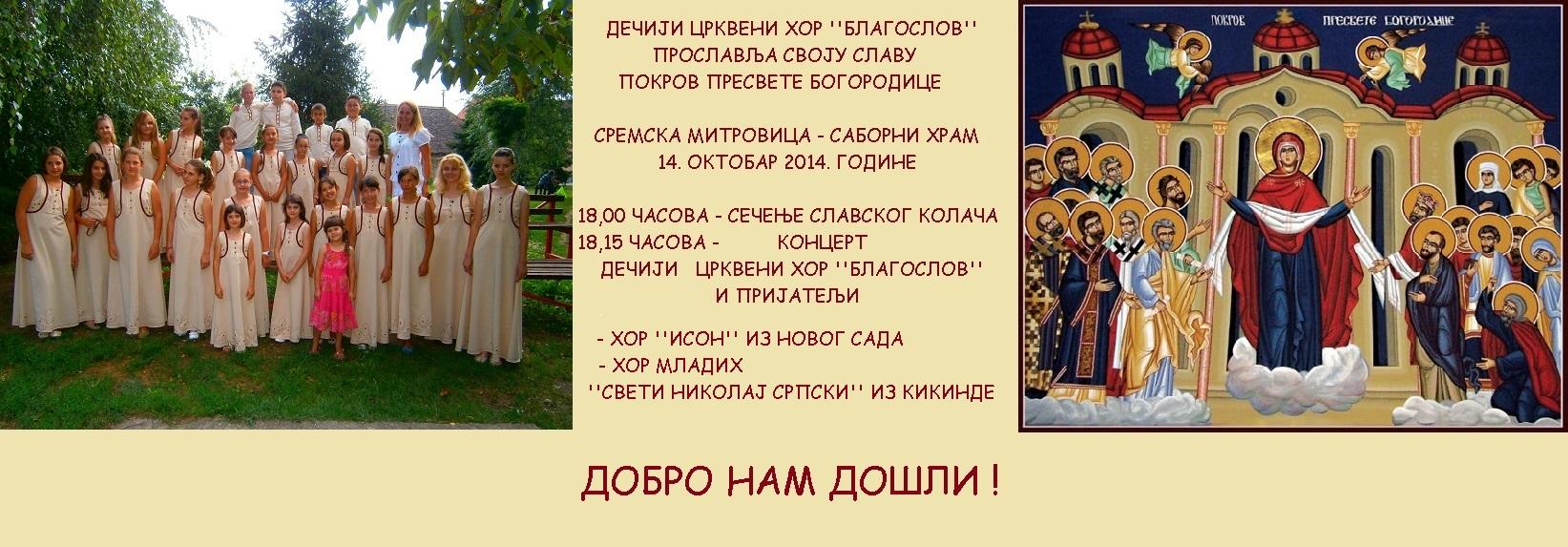 """Дечји црквени хор """"Благослов"""" данас слави своју славу"""