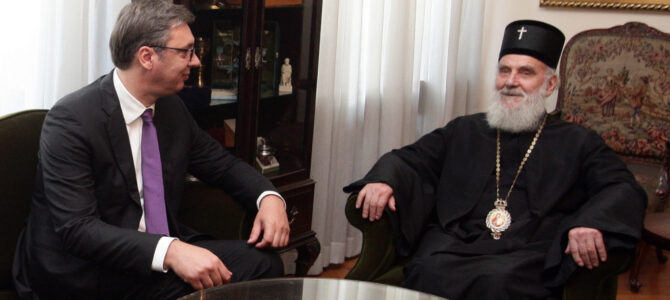 Председник Вучић честитао јубилеј патријарху Иринеју