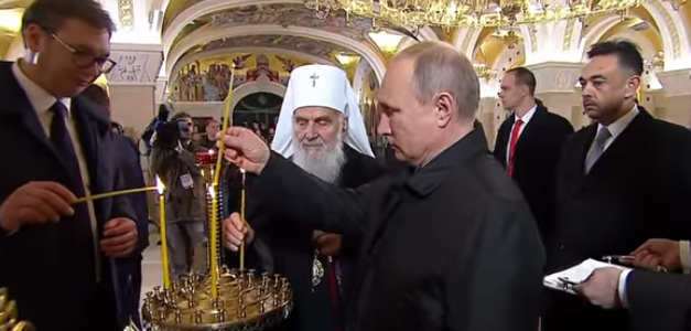 Председник Путин честитао јубилеј патријарху Иринеју