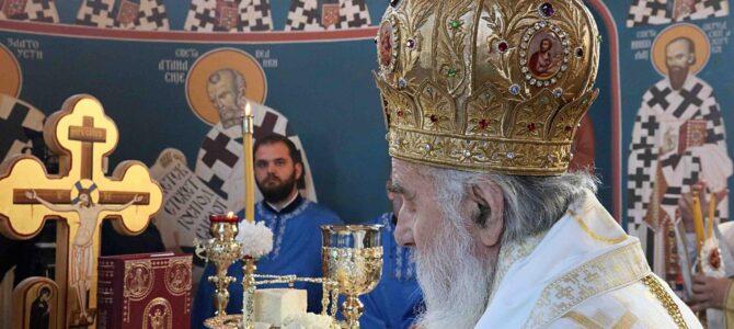 Патријарашком Литургијом прослављена слава храма Свете Петке у Рушњу