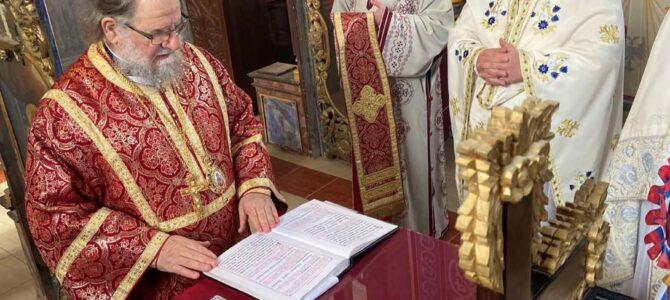 Освећење обновљеног храма у Вашици