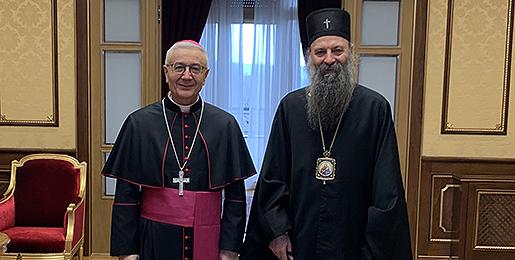 Патријарх српски примио Апостолског нунција
