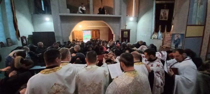Света тајна Јелеосвећења у храму Сабора српских светитеља у Руми