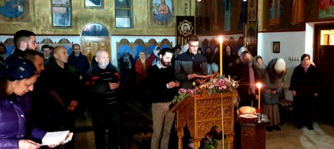 Свеноћно бденије у Покровском храму у Петроварадину