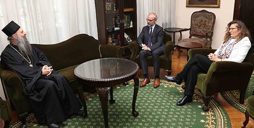 Патријарх српски примио Амбасадора Аустрије