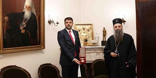 Патријарх српски примио Амбасадора Србије у Црној Гори