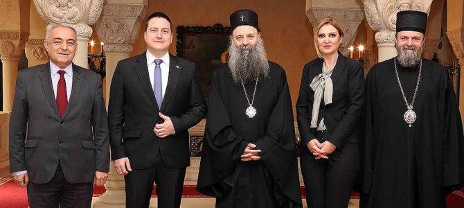 Патријарх српски Порфирије примио потпредседника Владе г. Бранка Ружића