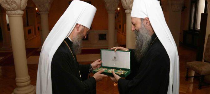 Патријарх Порфирије примио митрополита Антонија из Украјинске Православне Цркве