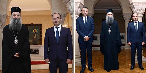 Патријарх српски примио грузијског дипломату