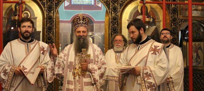 Патријарх Порфирије служио свету Литургију у Загребу