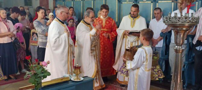 Света Литургија у храму Преображења Господњег у Беочину