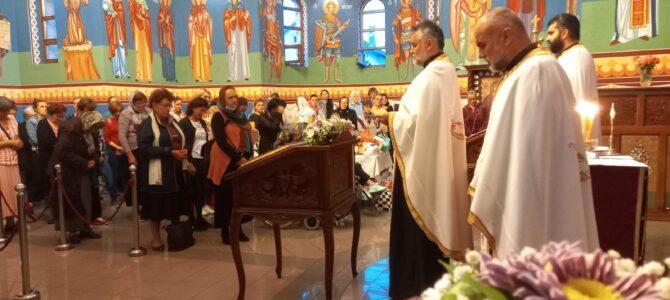 Света тајна Јелеосвећења у храму Светог Василија Острошког у Новим Бановцима