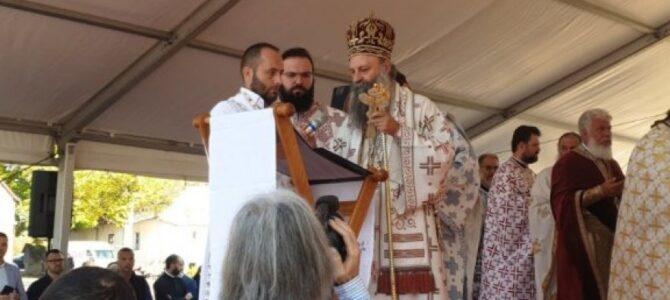 Беседа Патријарха Порфирија у манастиру Јасеновцу