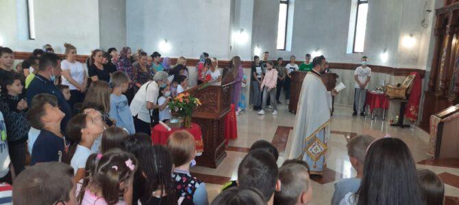 Призив Светог Духа на почетку школске године у цркви Светог Јована Шангајског у Батајници