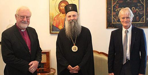 Патријарх Порфирије примио бискупа Олеа Квармеа