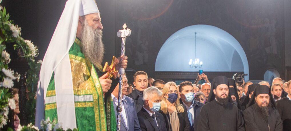 Патријарх српски Порфирије свечано дочекан у Бања Луци